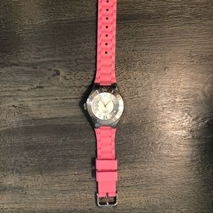 Invicta pink women watch silicone band like new